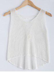 Criss Cross High Low Crochet Tank  Top -