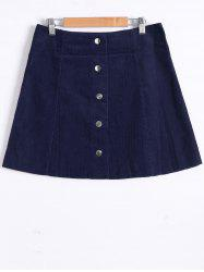 Button Front A Jupe -