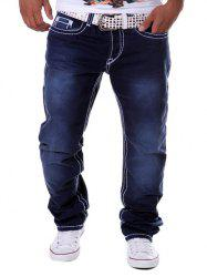 Drop Crotch Loose Straight Leg Jeans