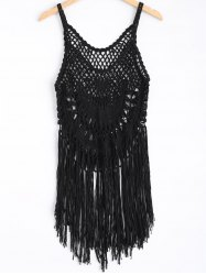 Strappy Fringe Knitted One Piece Swimwear