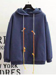 Plus Size Back Pattern Fleece Hoodie -
