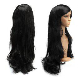 Long Slightly Curled Side Bang Parrucca Piena Cosplay Synthetic Wig