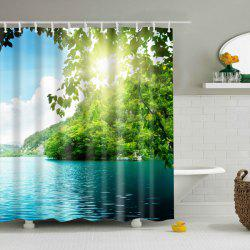 Nature Scenery Printed Waterproof Mouldproof Shower Curtain -