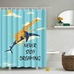 Never Stop Dreaming Cartoon Polyester Shower Curtain -