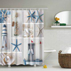 Waterproof Starfish Sea Product Shower Curtain - COLORMIX L
