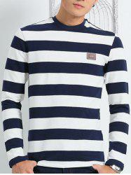 Collier à manches longues ronde Striped Tee -