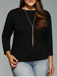 Plus Size Long Sleeves T-Shirt -