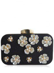Rhinestone Beads Flower Evening Bag -