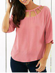 Hollow Out Blouse -
