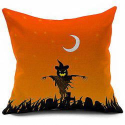 Halloween Pumpkin Vampire Printed Decorative Pillow Case - COLORMIX