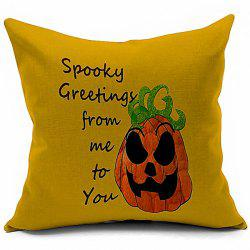 Halloween Pumpkin Letters Printed Pillow Case -
