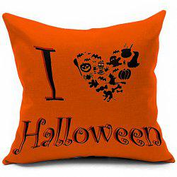 Hot Sale Halloween Series Heart Shaped Printed Pillow Case -