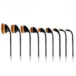 9 Pcs Golf Clubs Shape Makeup Brushes Set