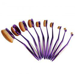 10 Pcs Nylon Toothbrush Shape Facial Eye Lip Makeup Brush Set -