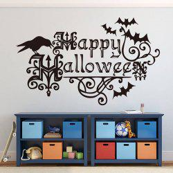 Removable Happy Halloween Bats Room Vinyl Wall Stickers Custom