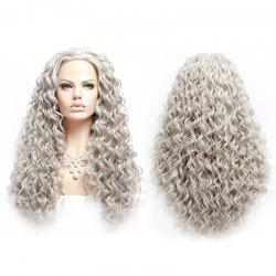 Long Fluffy Curly Lace Front Synthetic Wig -
