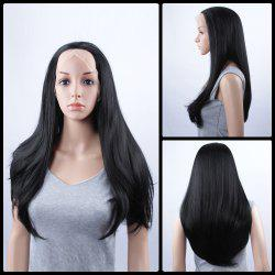 Long Natural Straight Lace Front Synthetic Wig