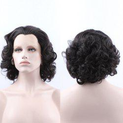 Endearing Short Curly Lace Front Synthetic Wig