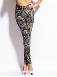 Paisley Print Skinny High Waist Leggings