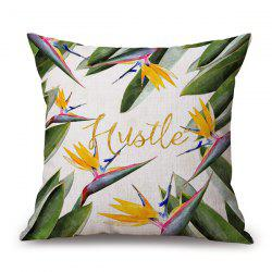 Bird of Paradise Flower Design Cushion Pillow Case -