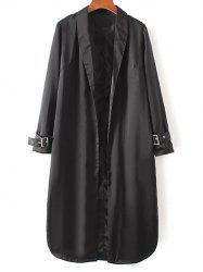 Embroidered Trench Coat - BLACK M