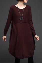Knee Length Long Sleeve Sweater Dress