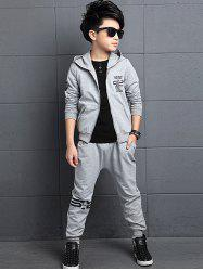 Graphic Printed Hoodie + Jogger Pants Sportive Twinset -