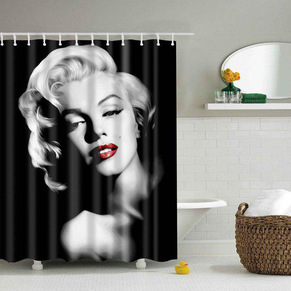 Polyester Mouldproof Lady Design Shower CurtainHOME<br><br>Size: L; Color: BLACK; Type: Shower Curtains; Material: Polyester; Weight: 0.540kg; Package Contents: 1 x Shower Curtain;