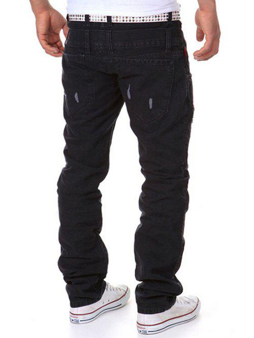 Latest Straight Leg Double-Waist Destroyed Cargo Pants