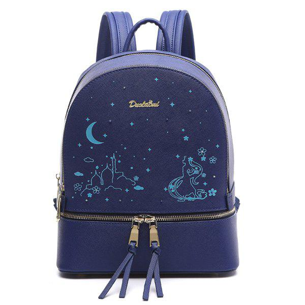 Sale Printed Embroidery Luminous Backpack