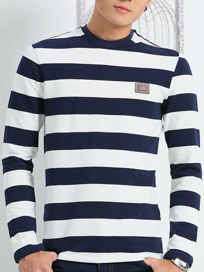 Collier à manches longues ronde Striped Tee