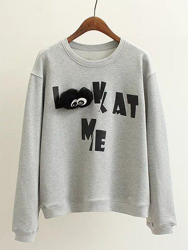 Shop Plus Size Letter Print Sweatshirt