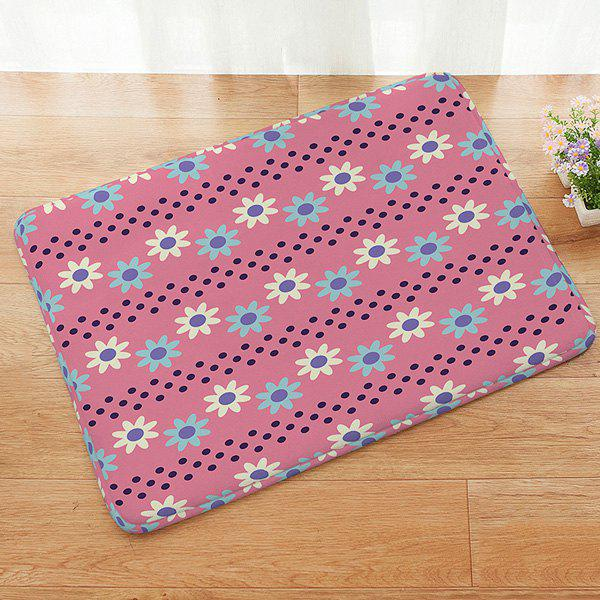 Outfits Floral Pattern Anti-slip Absorbent Doormat Carpet