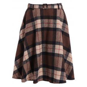 Plaid Winter Mini Skater Skirt