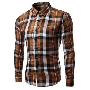 Slim Fit Long Sleeves Plaid Button-Down Shirt