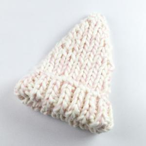 Hip Hop Casual Knitted Cord Thread Beanie Cap - White