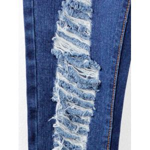 Broken Hole Stretchy Splicing Jeans -