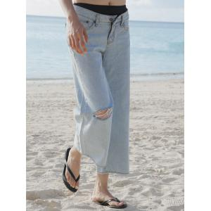 Broken Hole Loose-Fitting Jeans -