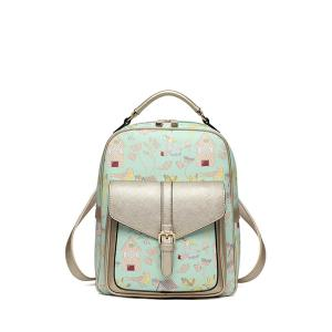 Cartoon Printed Buckle Backpack