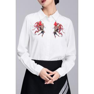 Monkey King Embroidered Tassel Shirt