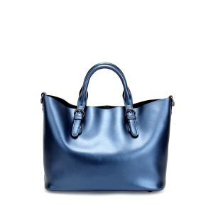 Leather Buckles Tote Bag