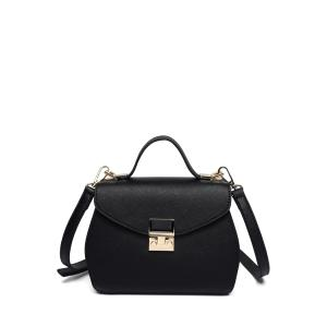 Hasp Cover Crossbody Bag - Black
