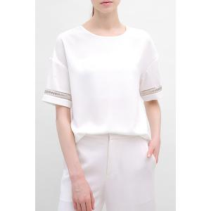 Drop Shoulder Chiffon T-Shirt