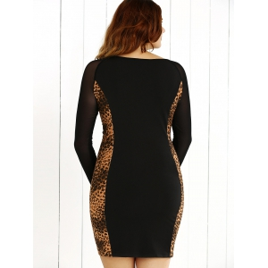 Plus Size Leopard Insert Dress -