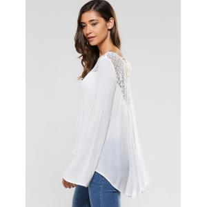 Back Slit Lace Patchwork Blouse -