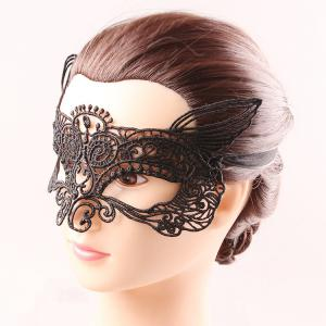 Mystical Upper Half Face Black Lace Carnival Masquerade Hollow Out Masks -