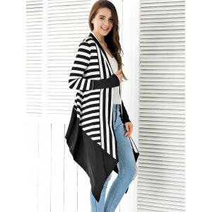 Striped Asymmetrical Cardigan -