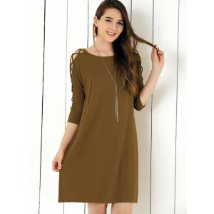 Criss Cross Sleeve Shift Dress -