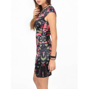 Abstract Printed Bodycon Dress -