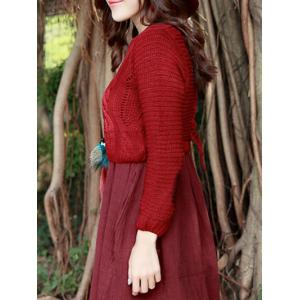 Short Cable Knit Sweater -
